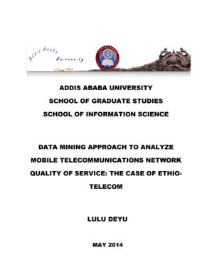 Addis Ababa University Electronics Thesis And Dissertation